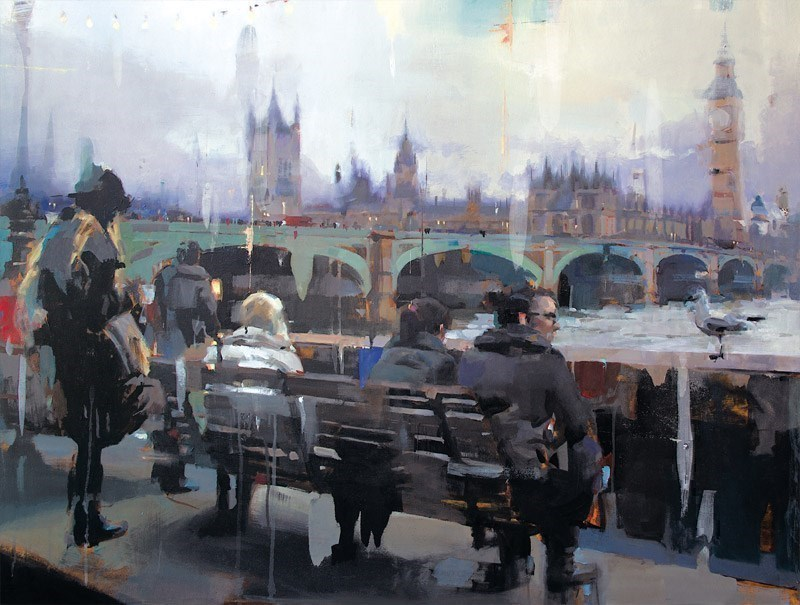 Embankment by Christian Hook - Limited Edition Canvas on Board sized 25x19 inches. Available from Whitewall Galleries